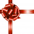gift red ribbon and bow  — 图库矢量图片