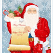 Santa Claus with Santa's list — Imagen vectorial