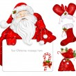 Santa Claus holds banner — Stock Vector