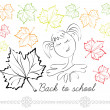 """Back to school!"" — Stock Vector"