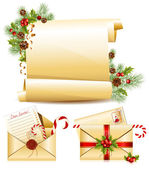 Christmas scroll — Stock Vector