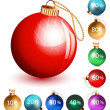 Christmas balls-discount. — Stock Vector