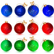 christmas balls — Stock Vector