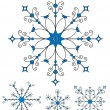 Vector snowflakes. — Stock Vector