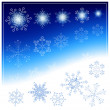 Snowflakes on blue background. — Stock Vector