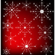 Snowflakes on the red background. — Stock Vector