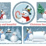 Funny Snowman. — Stock Vector #33592107