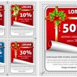 Stock Vector: Sale Christmas stickers
