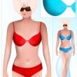 Swimwear design template. — Stock Vector