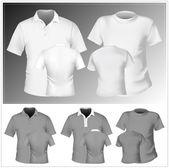 Men's t-shirt and polo shirt — Vector de stock