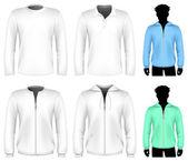 Vector t-shirt, polo shirt and sweatshirt — Stock Vector