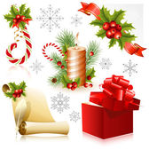 Set of christmas symbols. — Stock Vector