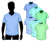 Vector t-shirt and polo-shirt — Vector de stock