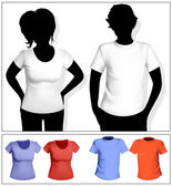 Women's and men's t-shirt — Stock Vector
