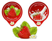 Design of packing yoghurt — Stock Vector
