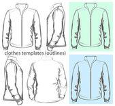 Men's sweatshirt with zipper — Stock Vector