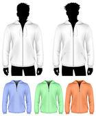 Hooded sweatshirt with zipper design — Stock Vector