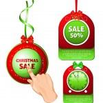 Christmas Sale Tags. — Stock Vector #33696083
