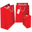 Gift red bags. — Stock Vector