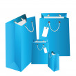Gift blue bags. — Stock Vector