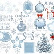 Christmas traditional objects — Stock Vector