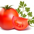 Ripe fresh tomatos — Stock Vector