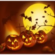 Halloween night. — Vector de stock #33695573