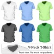 Men's v-neck t-shirt design — Stock Vector