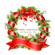 Stock Vector: Vector christmas wreath
