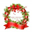 Vector christmas wreath — Stock Vector #33695961