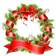 Vector christmas wreath — Stock Vector
