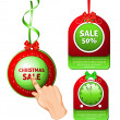 Stock Vector: Christmas Sale Tags.