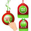 Рождественские продажи Теги — Cтоковый вектор
