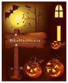 Halloween vector illustration — Stock Vector