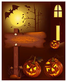 Halloween vector illustration — Stockvektor