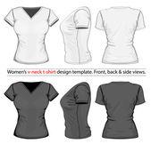 Women's v-neck t-shirt — Stock Vector