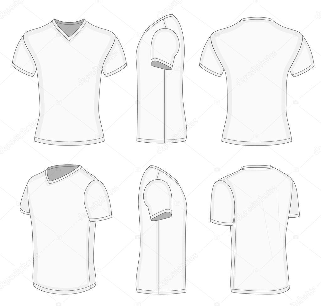 all views men 39 s white short sleeve v neck t shirt stock vektorgrafik ivelly 40282731. Black Bedroom Furniture Sets. Home Design Ideas