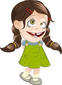 Retro cartoon girl — Stock Vector