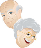 Senior couple cartoon — Stock Vector