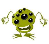 Alien engraçado dos desenhos animados — Vetor de Stock