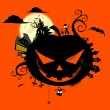 Creepy halloween world — Vector de stock
