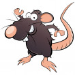 Funny cartoon rat — Image vectorielle