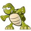 Funny cartoon turtle — Vettoriali Stock