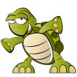 Funny cartoon turtle — Stock Vector #12525733