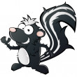 Funny cartoon skunk - Stock Vector