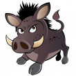 Funny boar cartoon — Stock Vector