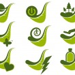 Modern ecology leaf set - Stock Vector