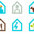 Modern house sign collection — Stock Vector