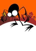Cartoon halloween background — Stock Vector