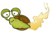 Funny cartoon snail — Stock Vector
